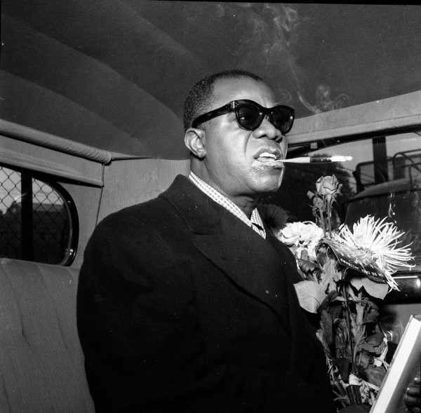 Image result for louis armstrong, weed