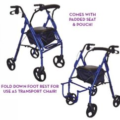 Hugo Navigator Walker Transport Chair Gray Rattan Dining Chairs Rollator Best 2018 Duet Wheelchair Drive Medical From Collections Etc