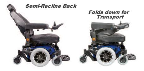 Quickie Pulse 6 Power Wheelchair with Captains Seat