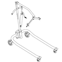 Parts for Invacare 9805 Hydraulic Patient Lift