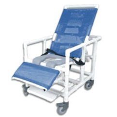 Portable Toilet Chair Cheetah Print Accent Pvc Reclining Bariatric Shower Commode With Open Seat