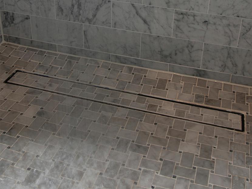 luxe linear shower drain tile insert
