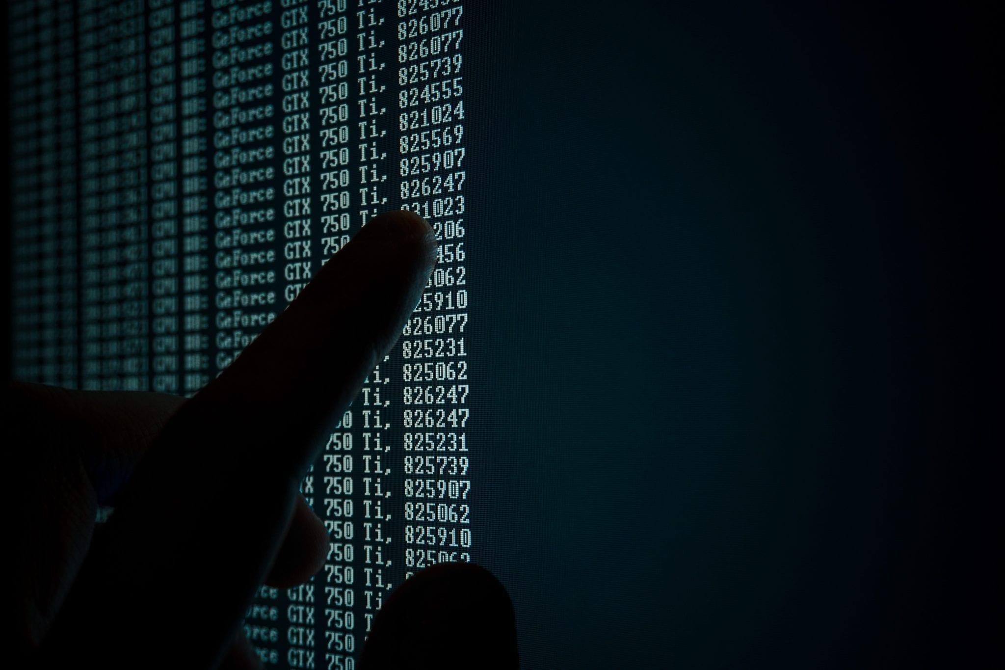 Computer Code Finger
