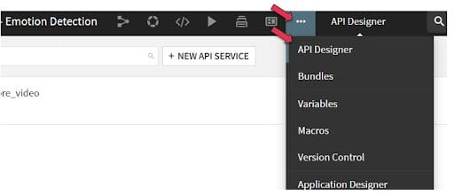 Using the API Designer to create an endpoint.