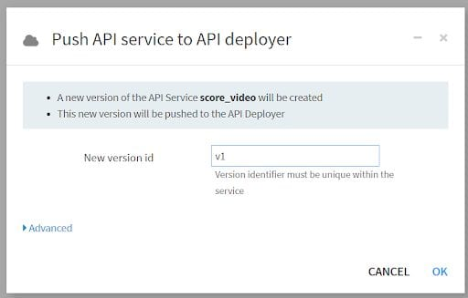 Give your endpoint a version ID.
