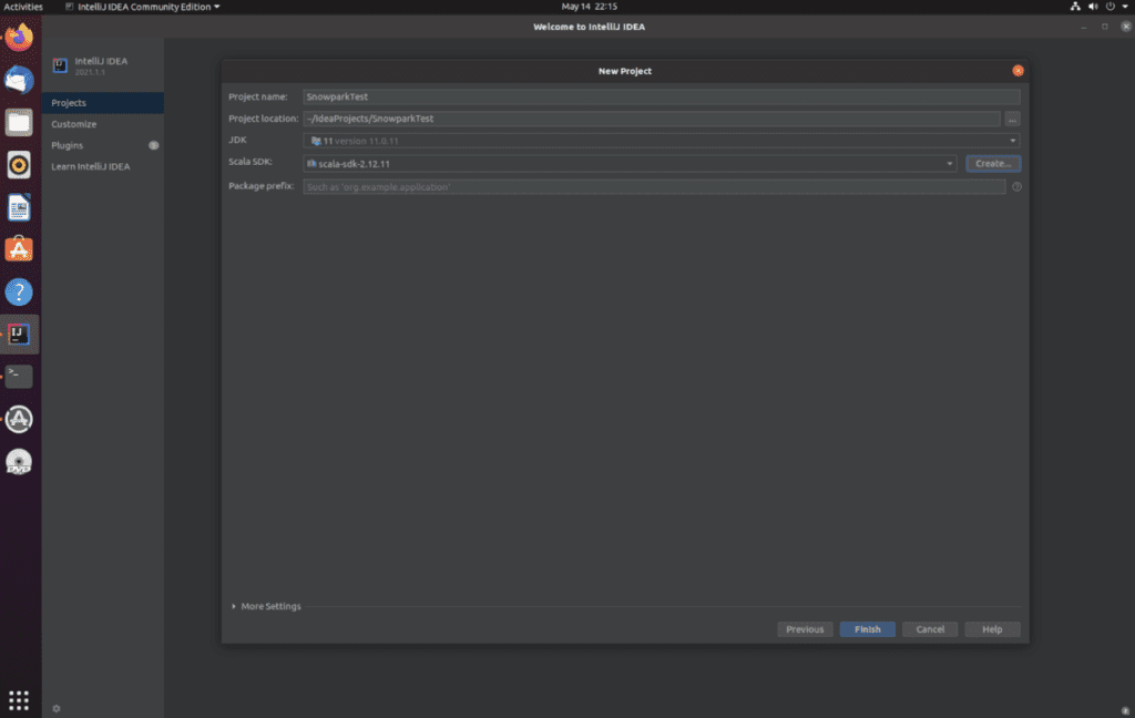 """A pop-up message in IntelliJ IDEA that has a """"finish"""" button."""