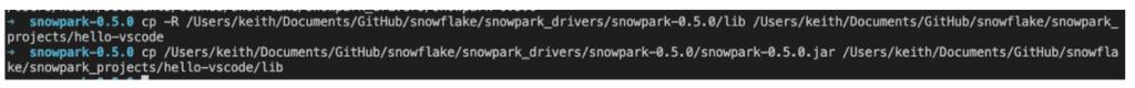 Screenshot that shows the Snowpark JAR file