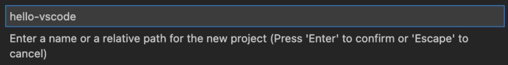 "Screenshot that says ""hello-vscode"""