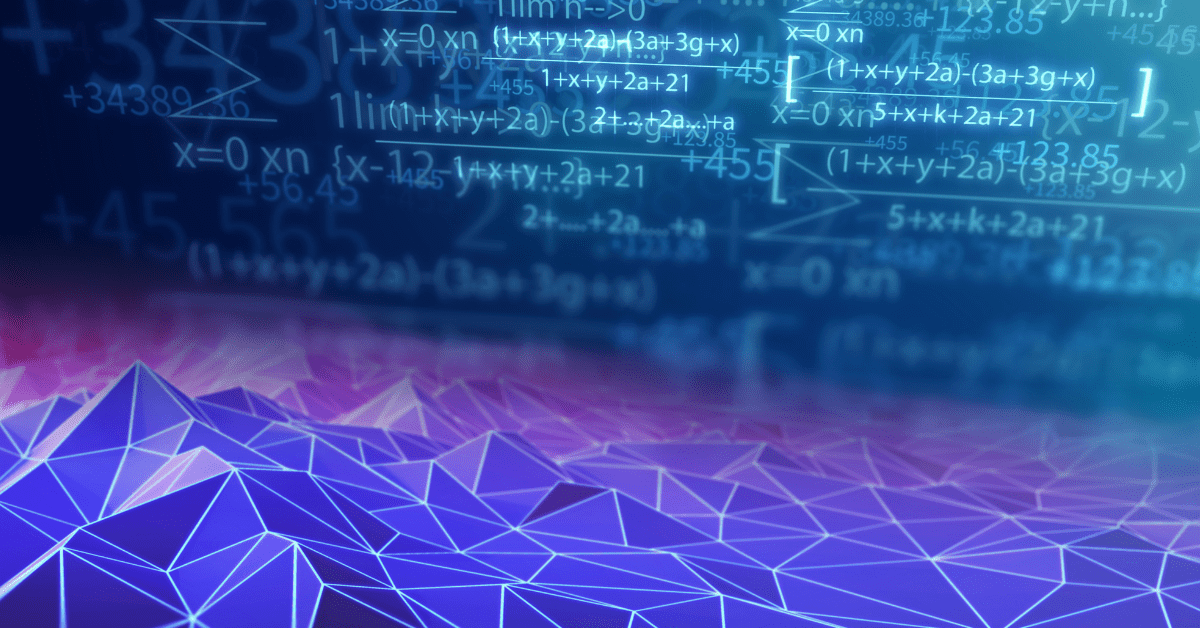 An abstract image of data and vectors