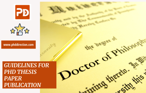 Research guidelines for Phd Thesis Paper Publication for research scholars