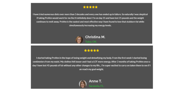 NutraVesta Proven Plus customer reviews