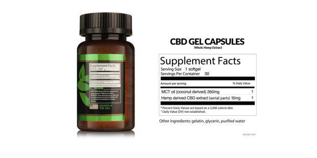 TrustBO CBD Gel Capsules dosage