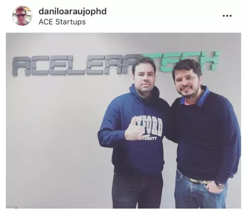 Diogo da FindMe e Danilo da PHD na Aceleratech em 2016