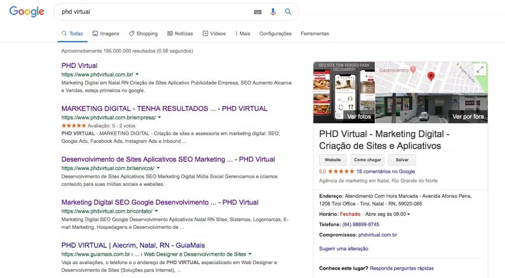 Localizando sua empresa no Google Meu Negócio