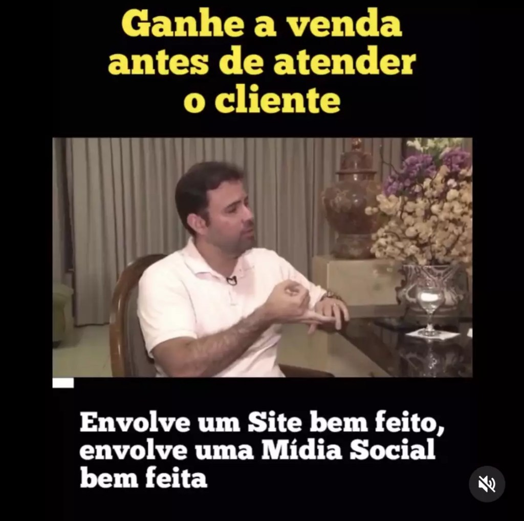 Exemplo de vídeo postado no feed do instagram, com título e legenda