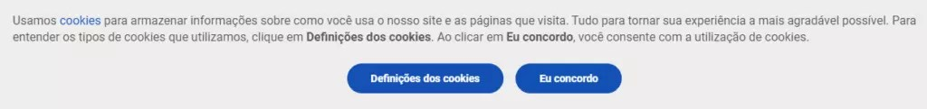 Exemplos da abordagem atual para a coleta cookies