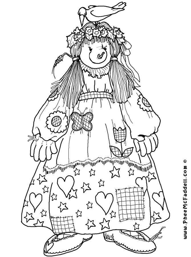 Matilda Scarecrow Coloring Page