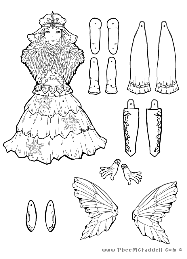 Puppet Fairy Tale Coloring Pages
