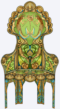 the mermaid chair bloom accessories mermaids and pirates chest