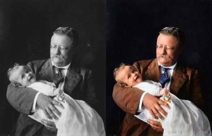 Top 25 photos anciennes historiques colorisées Théodore Roosevelt