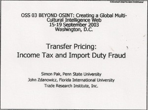 Transfer Pricing Fraud
