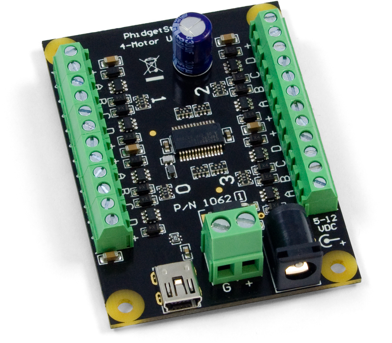hight resolution of 4 channel unipolar stepper controller