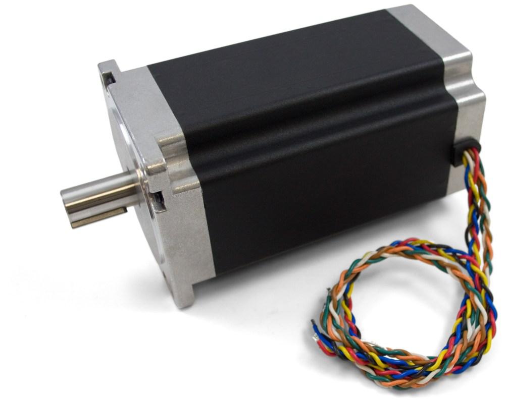 medium resolution of nema34 bipolar stepper motor