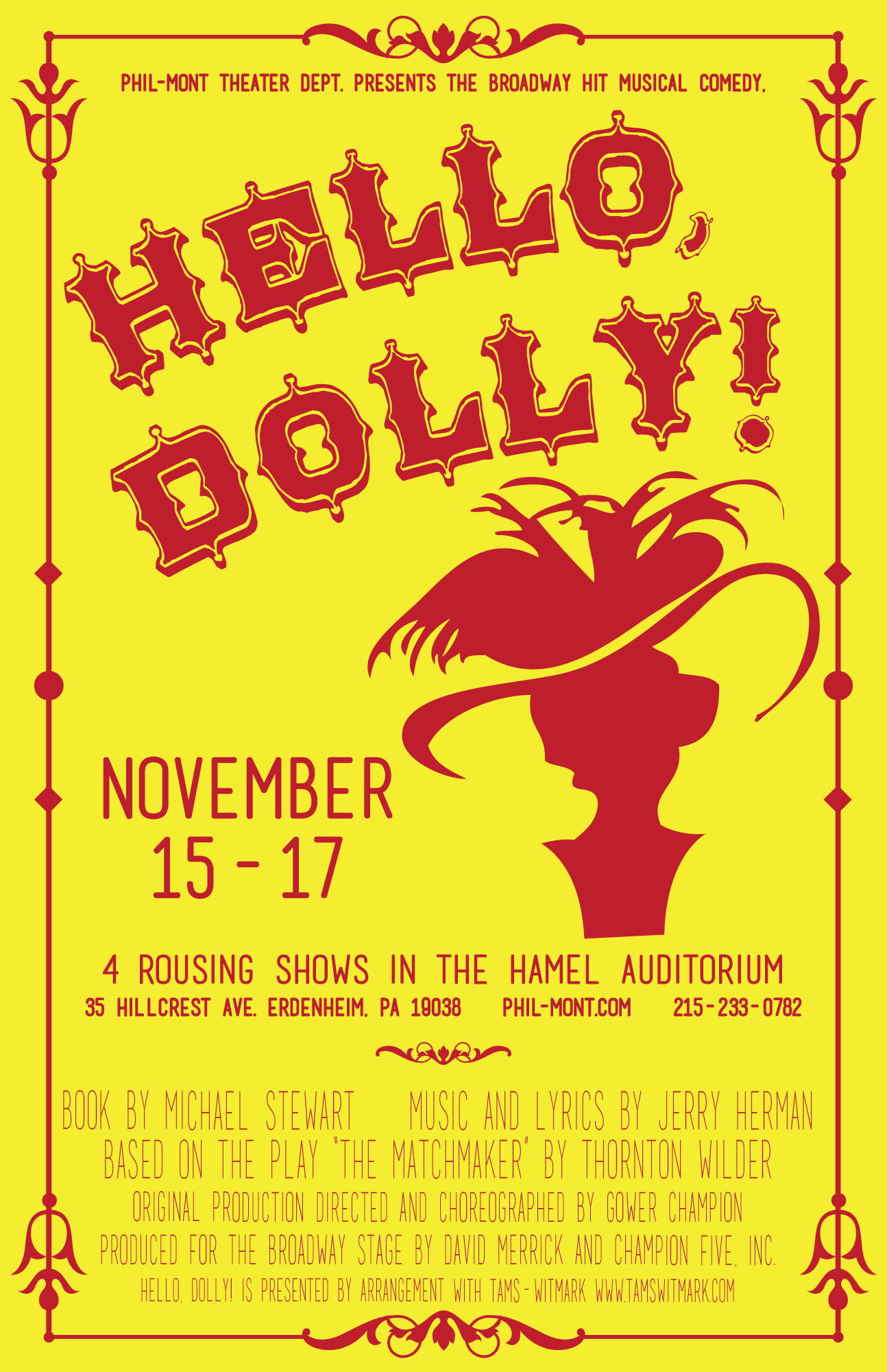 hello dolly large poster phil mont