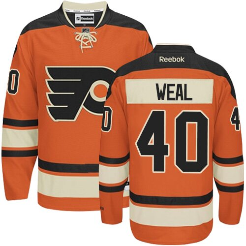 Men's Philadelphia Flyers #40 Jordan Weal Reebok Orange New Third Premier NHL Jersey