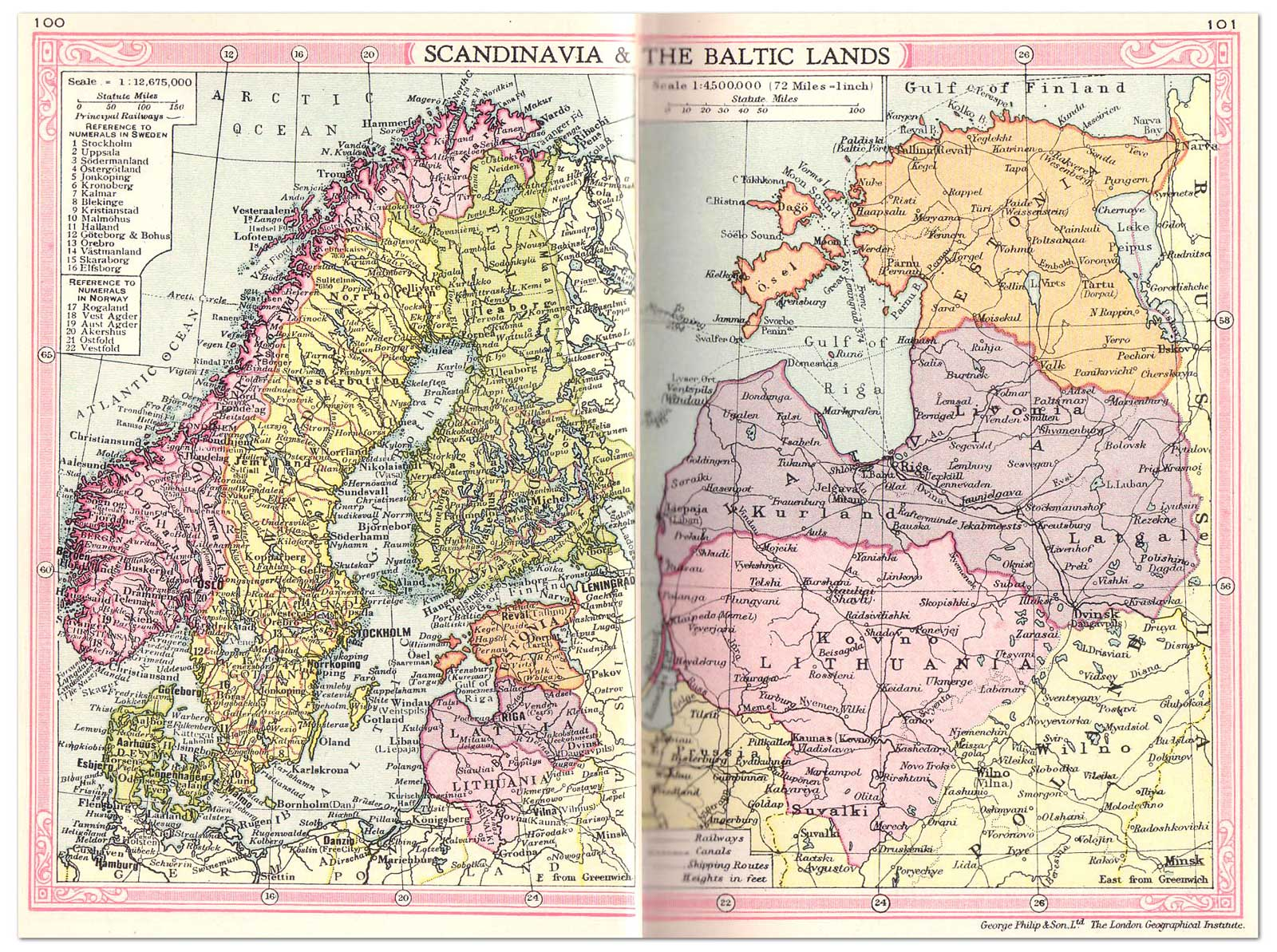 Scandinavian And Baltic Map Areas