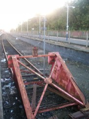 Buffers at end of Platform 2 Rochdale Train Station