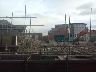Taken Nov 9 2012. BBC Manchester Oxford Road demolition.