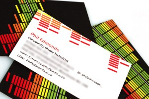 Phil Edmonds Community Media Technicist Business Card