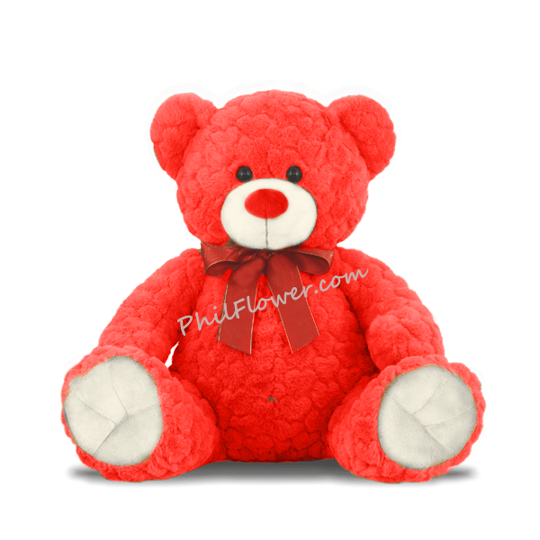 Kobe Red Color Teddy Bear To Philippines Delivery Teddy
