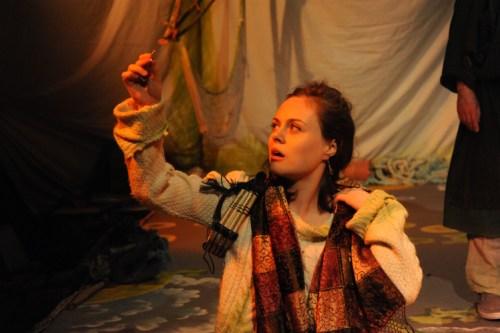Sophia Carr-Gomm as Miranda in The Tempest, Emporium Theatre, Brighton