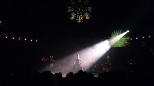 Karen Ruimy performing at the Union Chapel last night in 'Zik'r'