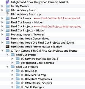 Event Manager X recreates the missing folders so further updates can be done in a controlled manner.