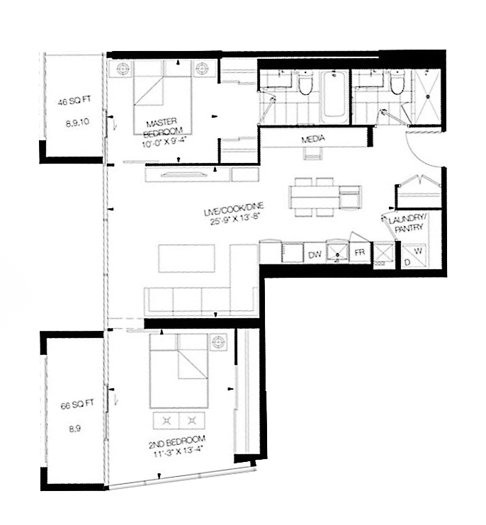 Floor Plan for 928-8 Hillsdale Avenue