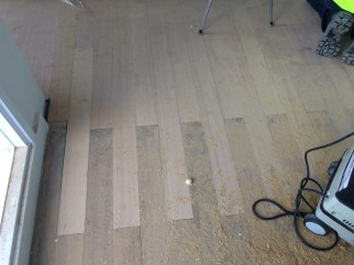 Keying into existing floorboards