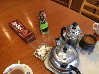 Tea and tim tams are always a hit!