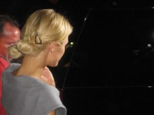 Paris Hilton leaves the Roosevelt Hotel restaurant, 25 Degrees