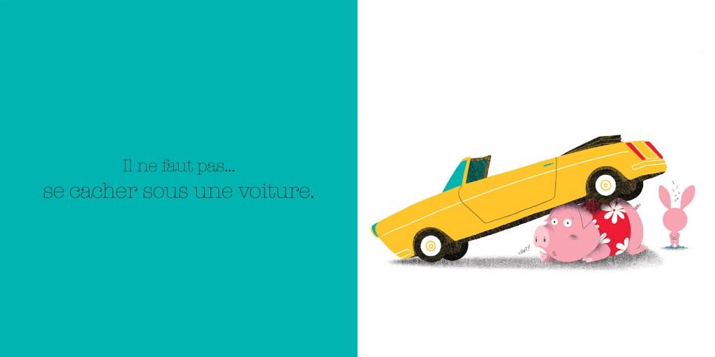 On ne se cache pas sous une voiture. Dictionnaire des grosses bêtises, Larousse, Jalbert