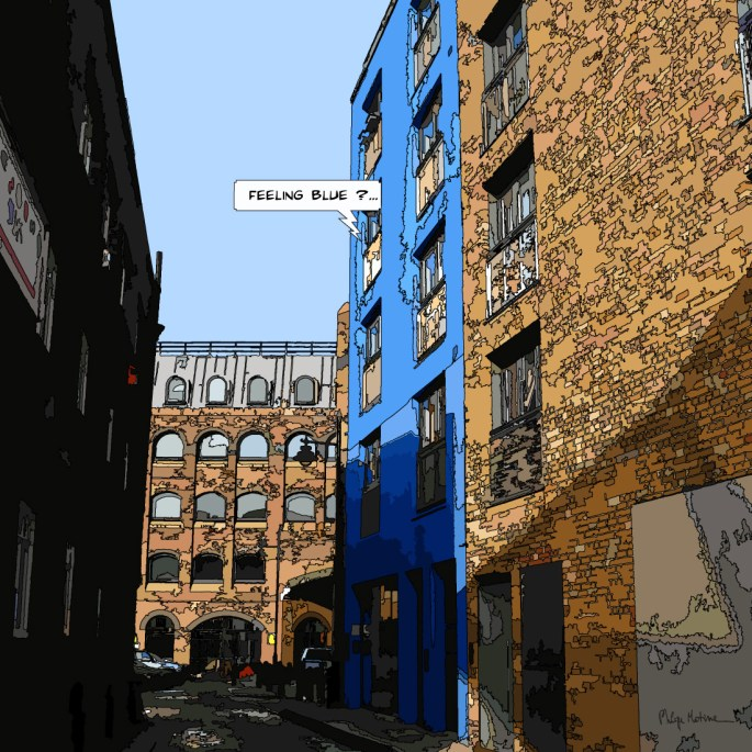 Blue building -- Medium 80x80 // Large 100x100