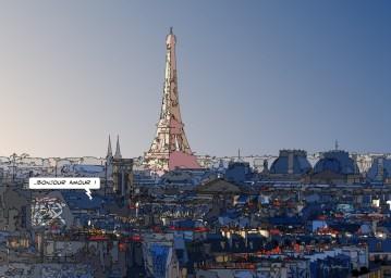 Bonjour amour -- Medium 100x70 259€ // Large140x100 429€