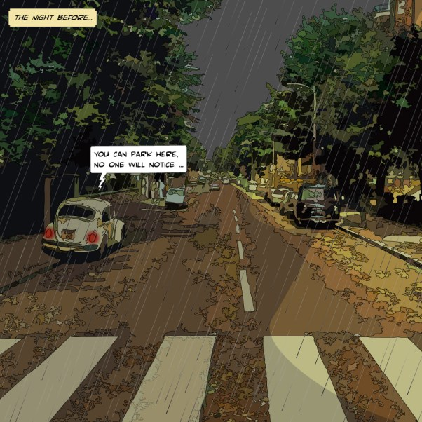 Empty Abbey Road -- Medium 80x80 239€ // Large 100x100 299€