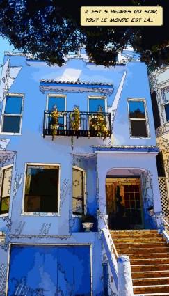 Maison bleue -- Medium 50x90 219€ // Large 80x140 429€