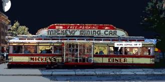 Mickey's diner -- Medium 90x50 219€ // Large 140x70 429€
