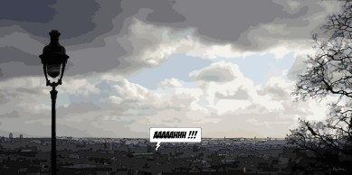 Vue de Montmartre -- Medium 100x50 229€ // Large160x80 479€ // XLarge 180x90 579€