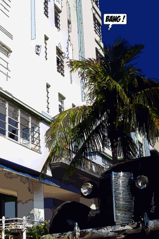 Miami // Nash contre plongée -- Medium 60x90 229€ // Large 80x120 359€