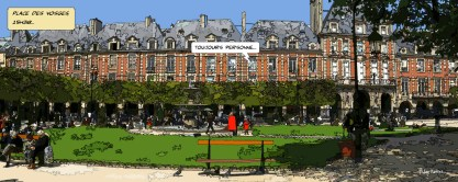 Place des Vosges -- Medium 100x40 199€ // Large 150x60 379€